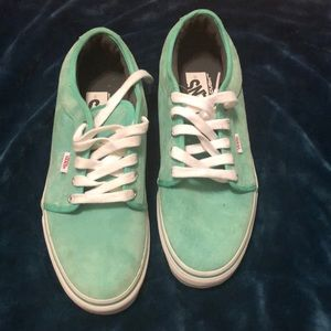 Never worn before Vans Tiffany blue teal shoes